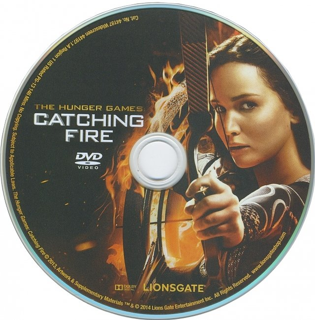 dvd cover The Hunger Games : Catching Fire 2013 R1 Disc Dvd Cover