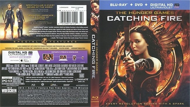 dvd cover The Hunger Games : Catching Fire 2013 Dvd Cover