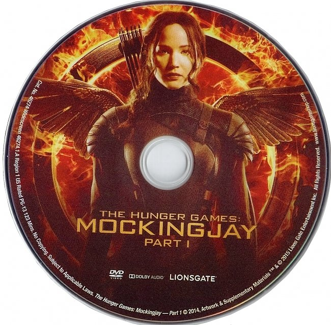 dvd cover The Hunger Games : Mockingjay Part 1 2014 R1 Disc Dvd Cover