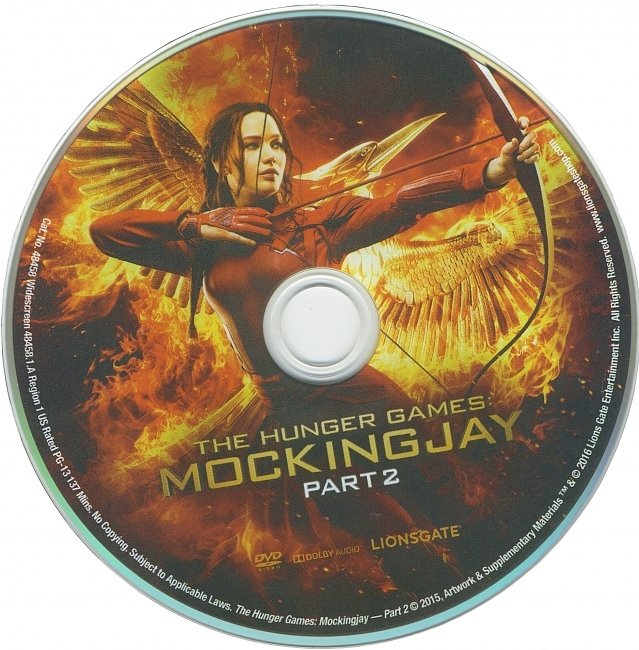 dvd cover The Hunger Games : Mockingjay Part 2 2015 R1 Disc Dvd Cover