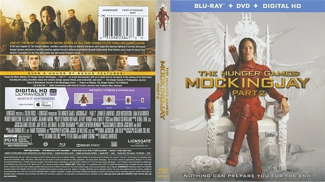 dvd cover The Hunger Games : Mockingjay Part 2 2015 Dvd Cover