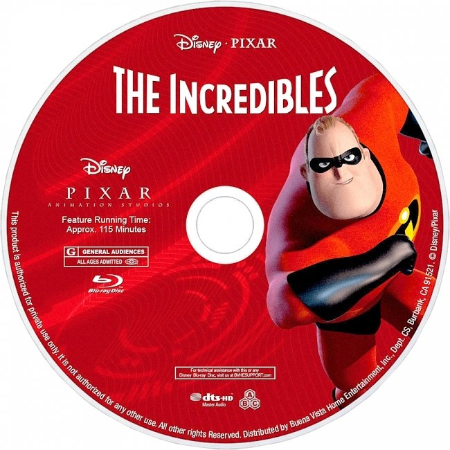dvd cover The Incredibles 2003 R1 Disc Dvd Cover