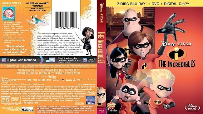 dvd cover The Incredibles 2003 Dvd Cover