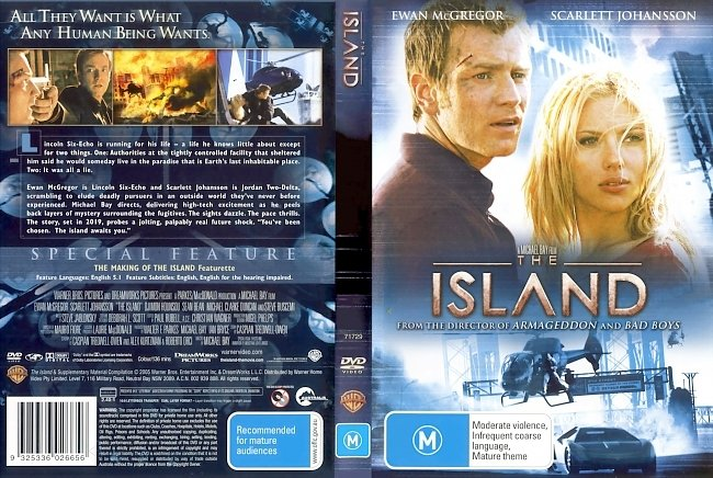 dvd cover The Island 2005 Dvd Cover