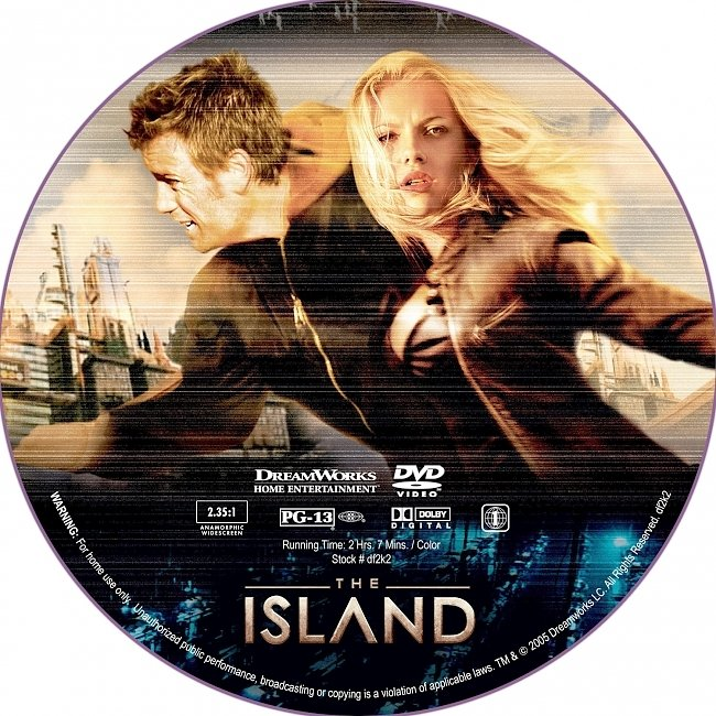 dvd cover The Island 2005 R1 Disc Dvd Cover