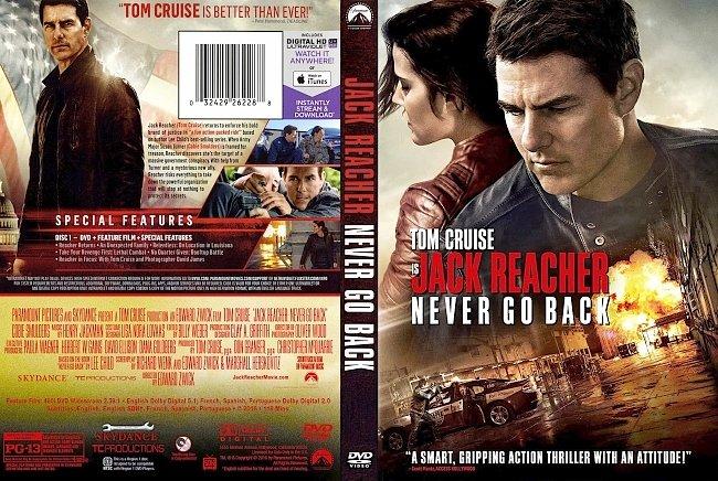 dvd cover Jack Reacher - Never Go Back 2016 Dvd Cover
