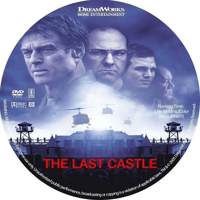 dvd cover The Last Castle 2001 R1 Disc Dvd Cover