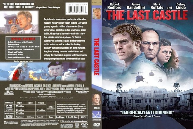 dvd cover The Last Castle 2001 Dvd Cover