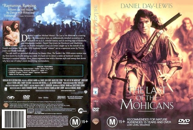 dvd cover The Last Of The Mohicans 1992 Dvd Cover