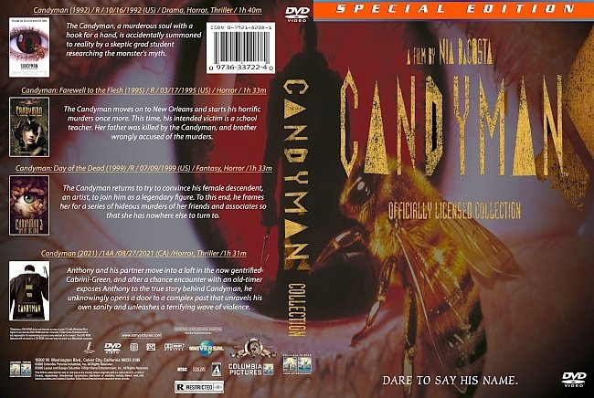 dvd cover Candyman Collection 2021 Dvd Cover