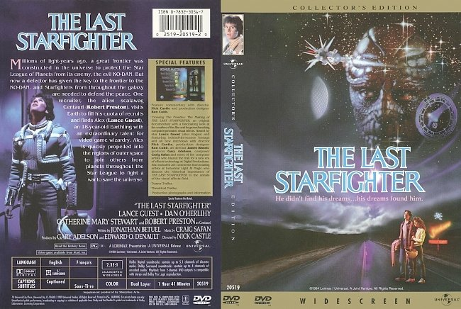dvd cover The Last Starfighter - Collectors Edition 1984 Dvd Cover