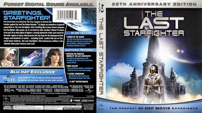 dvd cover The Last Starfighter 1984 Dvd Cover