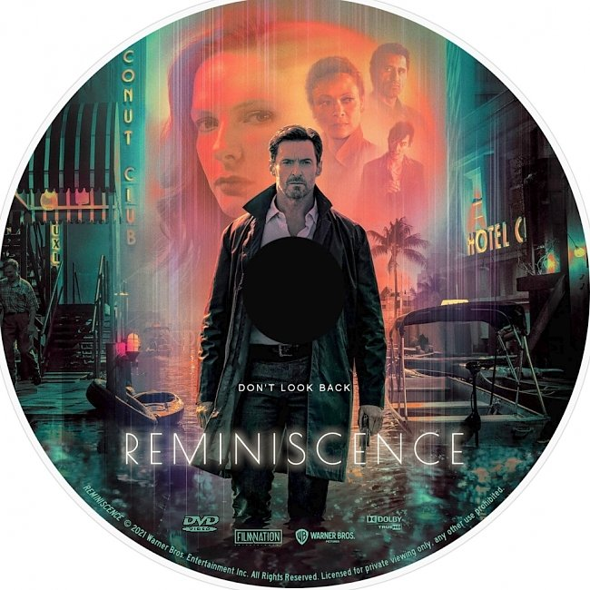 dvd cover Reminiscence 2021 Dvd Disc Dvd Cover