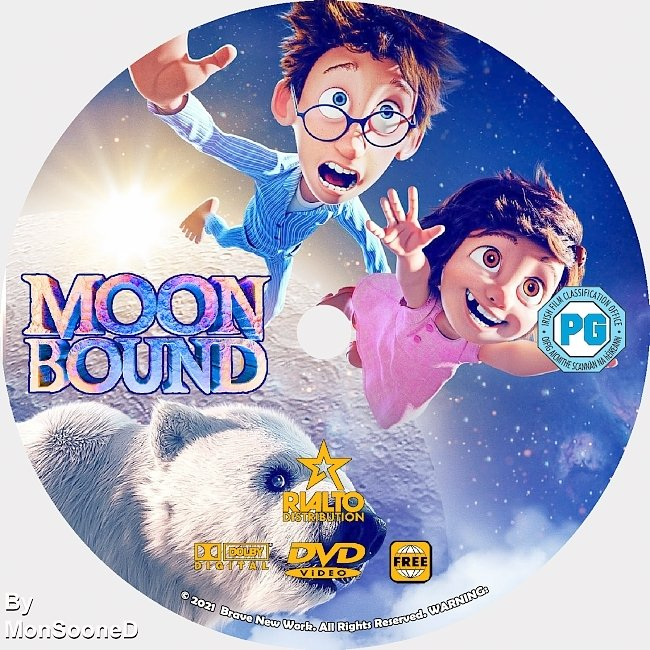 dvd cover Moon Bound 2021 Dvd Disc Dvd Cover