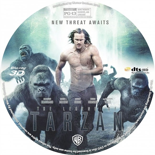 dvd cover The Legend Of Tarzan 2016 R1 Disc Dvd Cover