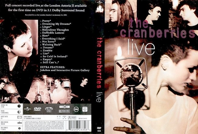 dvd cover The Cranberries - Live 1994 DVD Release 2005 Dvd Cover