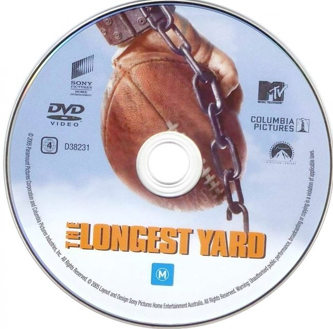 dvd cover The Longest Yard 2005 Disc Label Dvd Cover