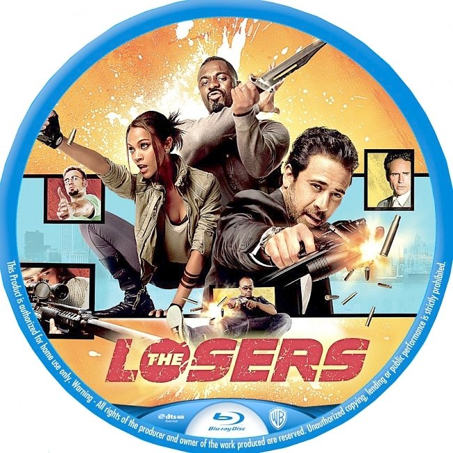 dvd cover The Losers 2010 R1 Disc Dvd Cover