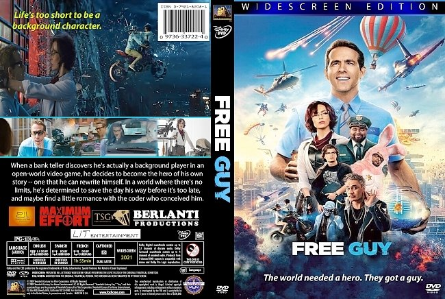 dvd cover Free Guy 2021 Dvd Cover
