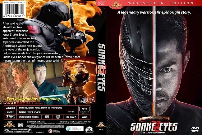dvd cover Snake Eyes: G.I. Joe Origins 2021 Dvd Cover