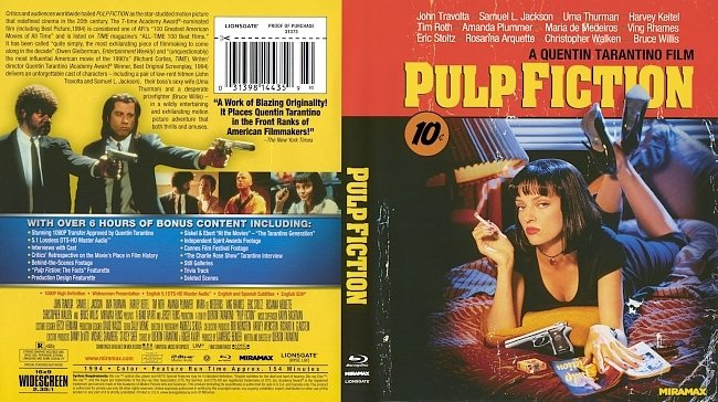 dvd cover Pulp Fiction 1994 Dvd Cover